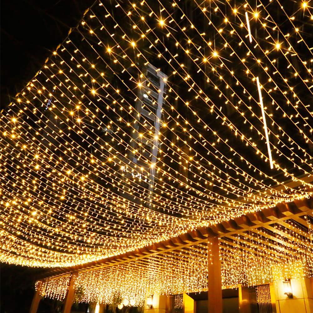 Opard 120LED Lichterkette Batterienbetrieben mit Timer 12M 8 Modi IP65 Wasserdicht f/ür Innen Au/ßen Weihnachten Zimmer Bett Hochzeit Party Schlafzimmer Weihnachtsbaum