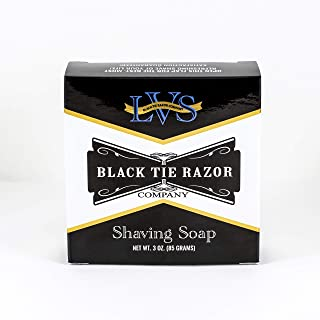 Black Tie Razor Company Luxury Shaving Soap LVS. Lavender Vanilla Sandalwood. Rich Lather Gives a Smooth Comfortable Shave. For gentlemen and ladies - 3 ozs.