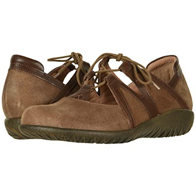 Naot Timu (Antique Brown Suede/Toffee Brown Leather) Women
