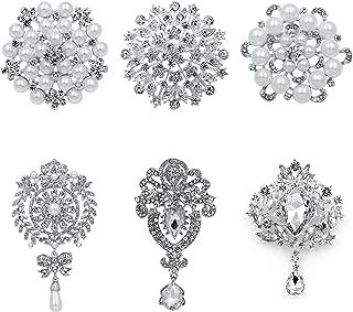 Silver Tone 4.5 cm Crystal Elegance UK Pretty Pink Wild Flower Brooch