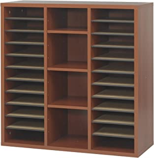 Safco Products 9441CY Apres Modular Storage Literature Organizer, Cherry