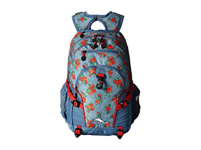 High Sierra Loop Backpack (Denim Rose/Graph Blue/Crimson) Backpack Bags