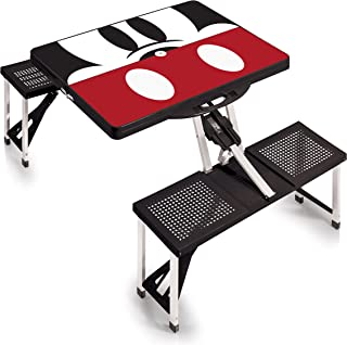 Disney Classics Mickey/Minnie Mouse Portable Folding Picnic Table with Seating for 4