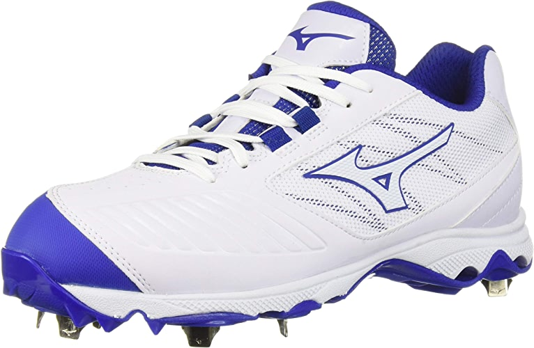 Mizuno Wohommes 9-Spike Advanced Sweep 4 Low Metal Softball Cleat chaussures, blanc Royal, 11 B US