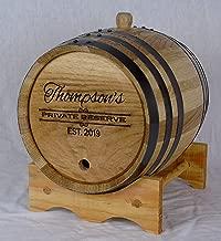 Personalized Engraved White American Oak Aging Barrels RHB156 (3 Liter)