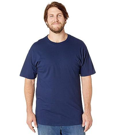 Hanes Big Tall Beefy-T Crew Neck Short Sleeve T-Shirt (Navy) Men