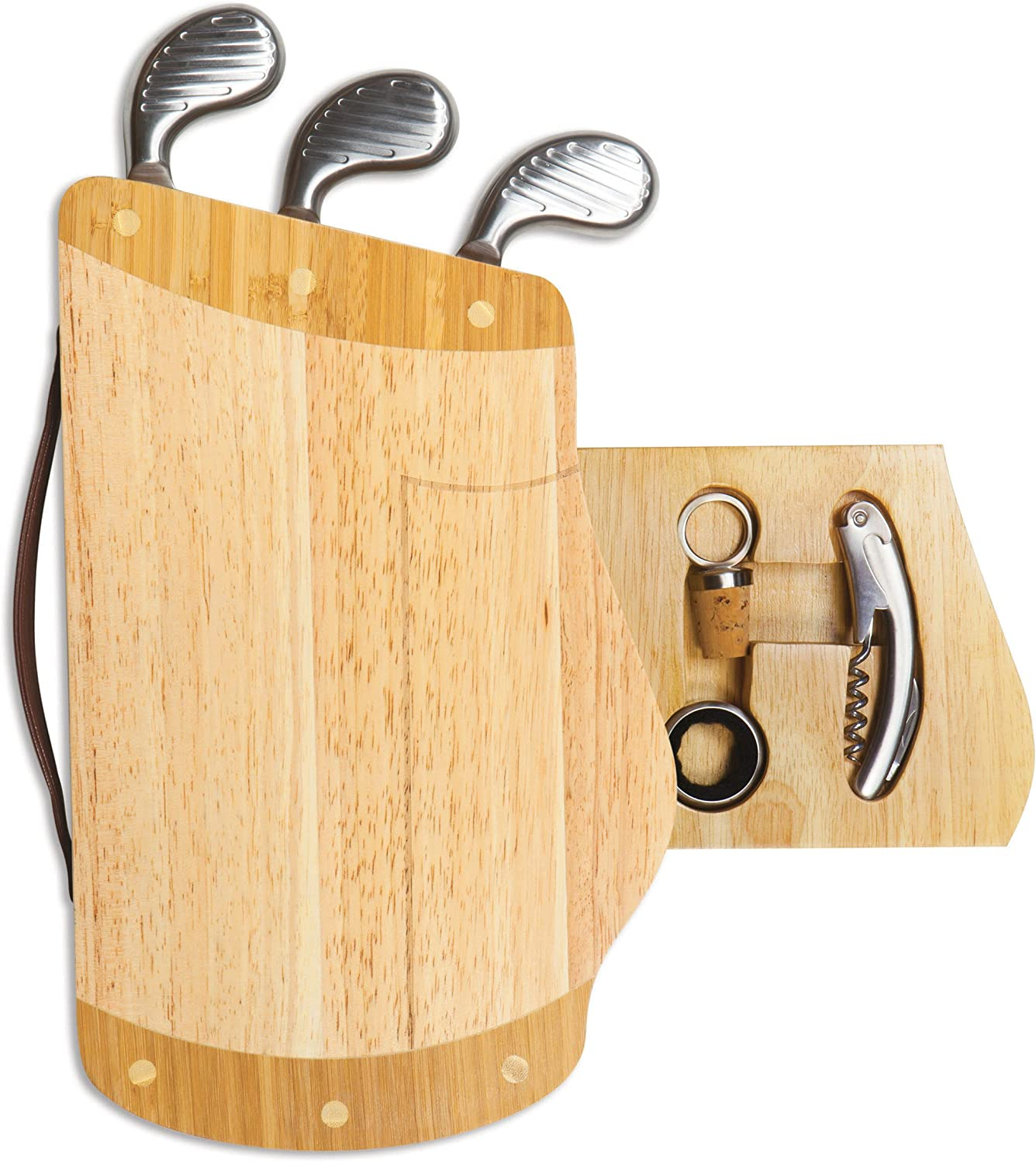 TOSCANA - a Picnic Time Brand Caddy Cheese Board and Tool Set