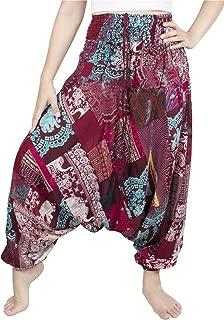 Unisex Patchwork Hippie Pants Harem Casual Baggy Yoga Colorful Trousers