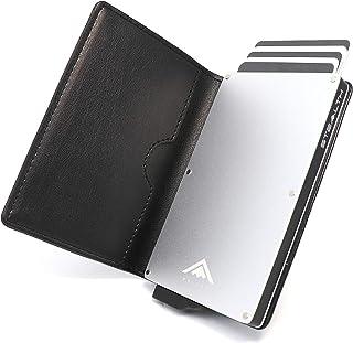 STEALTH WALLET Porte Cartes RFID - Portefeuilles Pop-up à Blocage NFC Minimaliste - Porte-Cartes de Crédit en Métal Léger ...