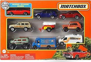 Matchbox coffret 9 véhicules, jouet pour enfant de petites voitures miniatures, modèle aléatoire, X7111