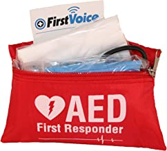 First Voice V18112 AED/Defibrillator Fast Response Kit with Red Nylon Bag
