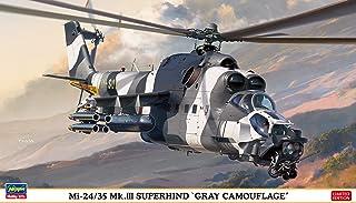 ハセガワ 1/72 ブルガリア空軍 Mi-24/35 Mk.3 スーパーハインド グレー カムフラージュ プラモデル 02297