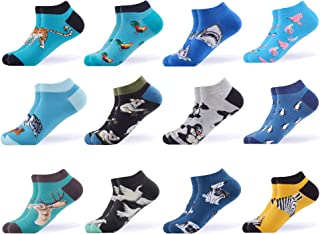 Men's Dress Cool Colorful Fancy Novelty Funny Casual Combed Cotton Ankle Socks Pack
