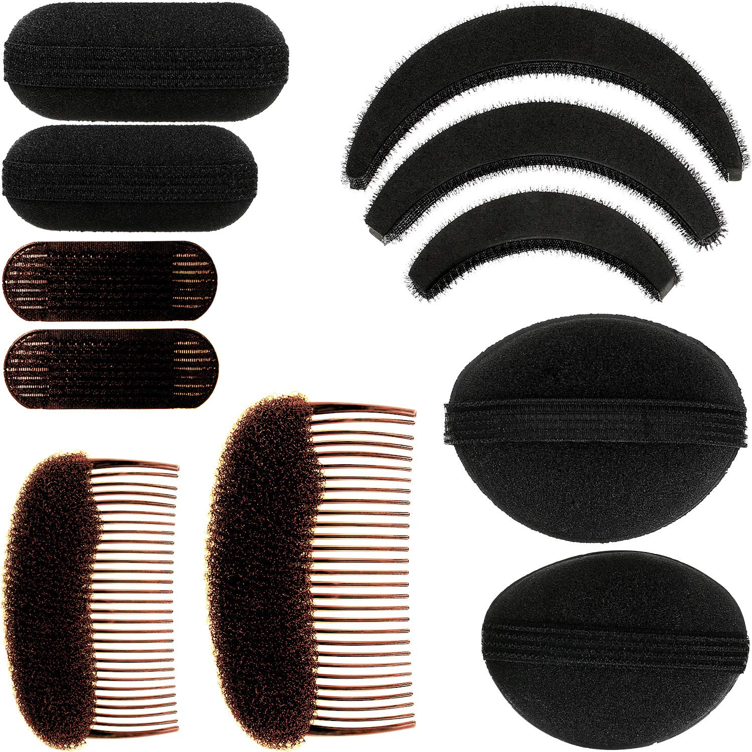 11 NEW Pieces Women Sponge Volume Bump Bases Hair Styli Inserts 67% OFF of fixed price