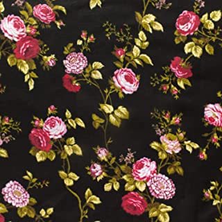 Best black fabric with roses Reviews