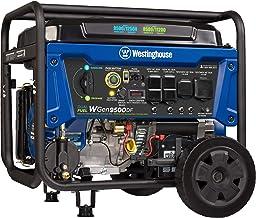Westinghouse WGen9500DF Dual Fuel Portable Generator-9500 Rated 12500 Peak Watts Gas or..