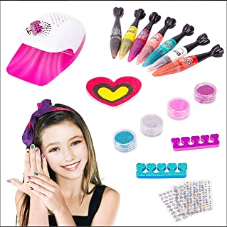 Natchcart Nail Art Pens, Paint and Sketch Set, 7 Basic Beauty Colors, Pedicure and Manicure Kit for Girls Between 5 to 10 ...