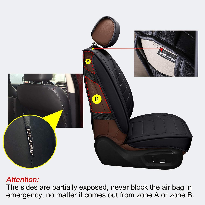 2 PCS Front, Black and Blue LUCKYMAN CLUB 2 Front Leather Seat Covers Fit for Jeep Wrangler Honda CRV Hrv Kia Optima Sportage Soul Forte Sorento Sedona Mazda cx7 cx5 cx30 Rx350