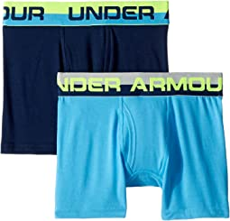 Under Armour Kids - 2-Pack Solid Cotton Boxer Set (Big Kids)