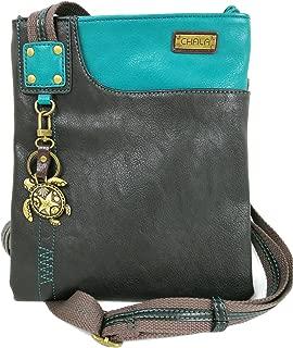 CHALA Handbags Swing PU Leather Cell Phone Purse with Metal Key Chain