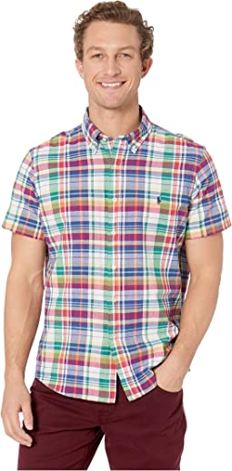 Short Sleeve Classic Fit Madras Woven