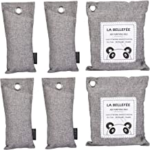 LA BELLEFÉE Air Purifying Bags, Natural Activated Bamboo Charcoal Air Fresheners Moisture Absorber for Home, Fridge, Car