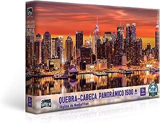 Quebra Cabeça 1500 Peças - Skyline de Manhatthan, Toyster Brinquedos, Multicor