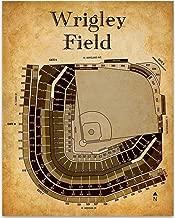 Wrigley Field Baseball Seating Chart - 11x14 Unframed Art Print - Great Sports Bar Decor and Gift Under $15 for Baseball Fans