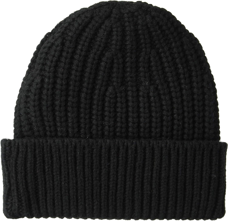 Goodthreads Men's Standard Marled Beanie, Black, one size: Clothing