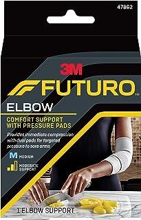 پشتیبانی آرنج Futuro با لنت های فشار ، پشتیبانی تثبیت کننده متوسط ، متوسط