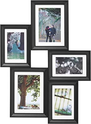 IKEA.. 603.896.01 Knoppäng Collage Frame for 5 Photos, Black