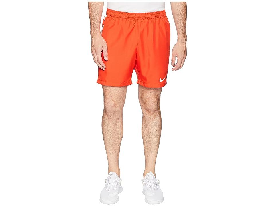 Nike Court Dry 7 Tennis Short (Habanero Red/White/White) Men