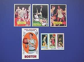 Boston Celtics (5) Card Basketball Rookie Reprint Lot **Including Bill Russell, Larry Bird, John Havliek, Bob Cousey, Kevin McHale