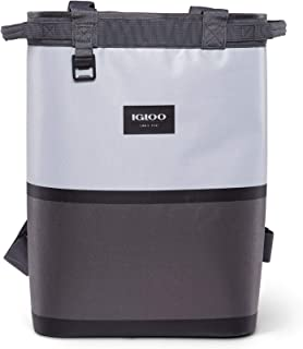 Igloo Reactor Portable 46 Can & Wine Bottle Soft Sided Insulated Leakproof Water Resistant Cinch Backpack Cooler Bag with ...