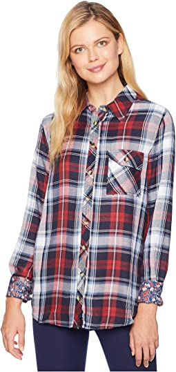Emma Long Sleeve Plaid Top