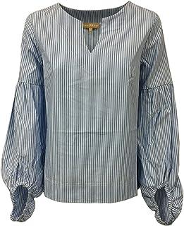 HUMILITY 1949 Camicia Donna Righe Azzurro MOD HA8087 100% Cotone Made in Italy