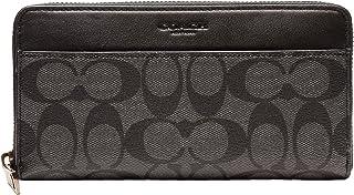 [コーチ] COACH 財布(長財布) F75000 チャコール×ブラック シグネチャー PVC レザー アコーディオン ジップ アラウンド メンズ レディース