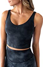 Kamo Fitness Tank Top Crop Sports Bra for Women Soft Padded Built-in Bra Longline Yoga Running Workout