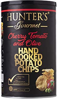 Hunter's Gourmet Hand Cooked Potato Chips, Cherry Tomato And Olive, 150 gm