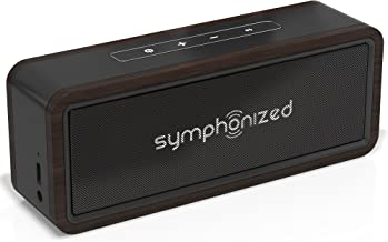 Symphonized NXT 2.0 Bluetooth Wireless Portable Speaker, Dual-Driver Audio Player, AUX Cable Included for Wired Listening, Universal Compatibility (Black)