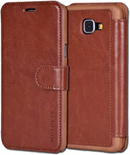 Samsung Galaxy A5 Case,Mulbess [Layered Dandy][Coffee Brown] - [Card Slot][Flip][Slim Fit] - PU Leather Wallet Case For Samsung Galaxy A5 (2016)