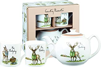 Churchill Country Pursuits Tea for Two Fine China Gift Teapot and Cups Set
