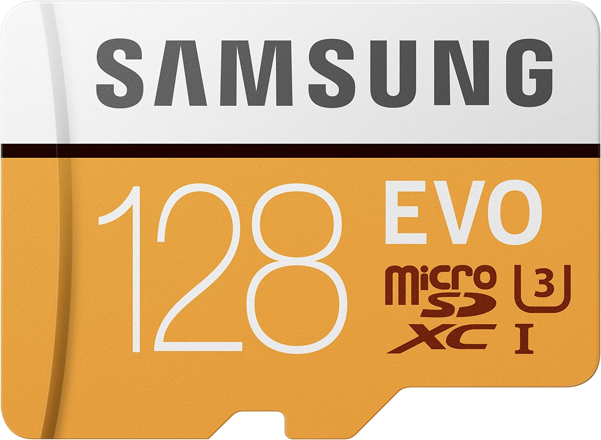 Samsung 100MB/s (U3) MicroSD EVO Memory Card with Adapter 128 GB (MB-MP128GA/AM)