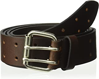Dickies Work Belt for Men - Leather with Double Prong Buckle for Jeans and Heavy Duty Construction