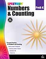 Spectrum, Numbers and Counting Workbook, Grades PK–K, Printable