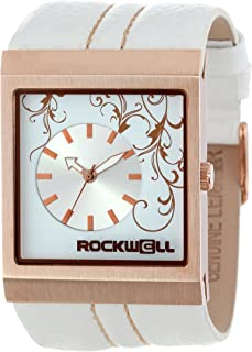 Rockwell Time Mercedes Quartz Metal and Leather Dress Watch