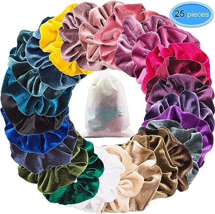20x School Hair Scrunchies Elastic Bobbles Hair Band Scrunchy Hair Accessory