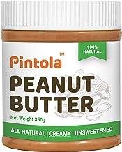Pintola All Natural Peanut Butter (Creamy) (350g) (Unsweetened, NON-GMO, GLUTEN FREE, VEGAN)