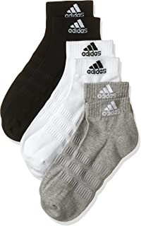 adidas Men's Cushioned Ankle 3-pack Socks