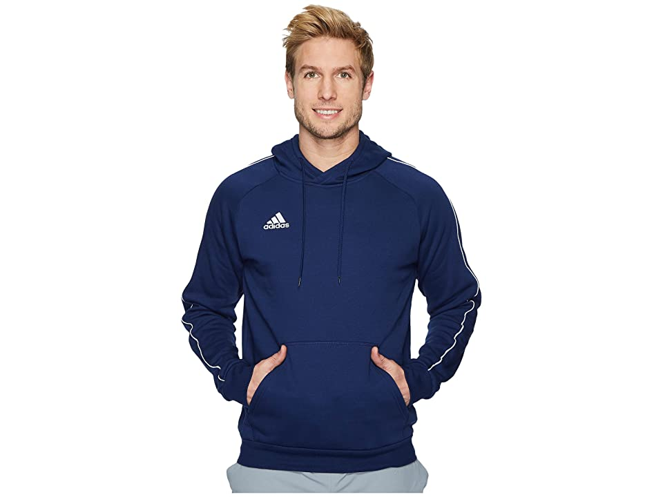 adidas Core18 Hoodie (Dark Blue/White) Men
